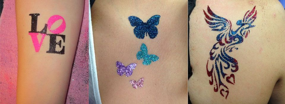 Glitter Tattoos in Winnipeg by the Sparkle Girls