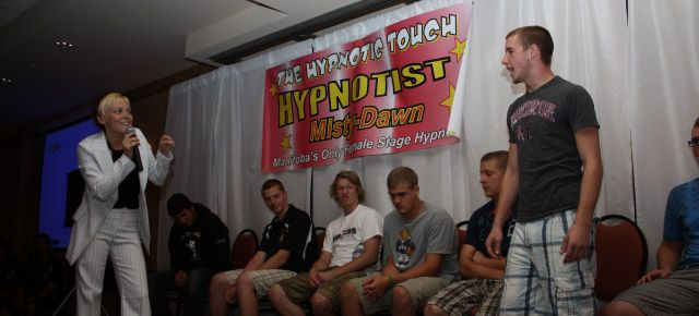 hypnotist show with Misty-Dawn