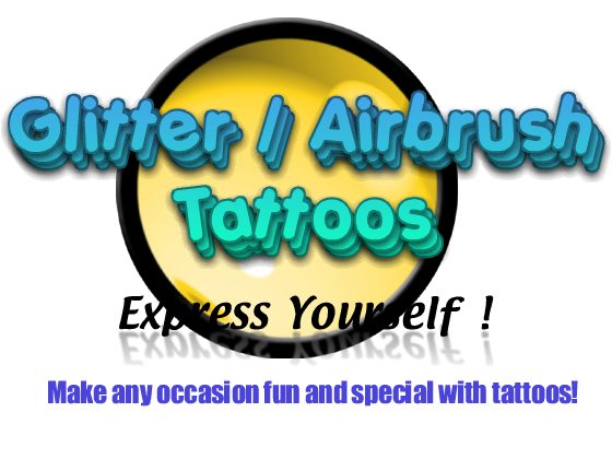 Glitter/Airbrush Tattoos - Express Yourself!