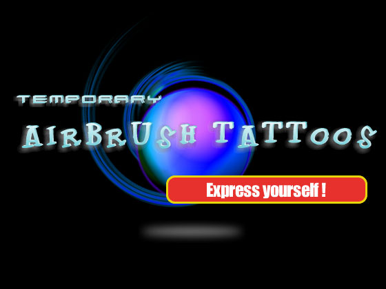 Glitter/Airbrush Tattoos - Express yourself
